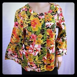Christopher Banks Floral Jacket Blazer cotton S